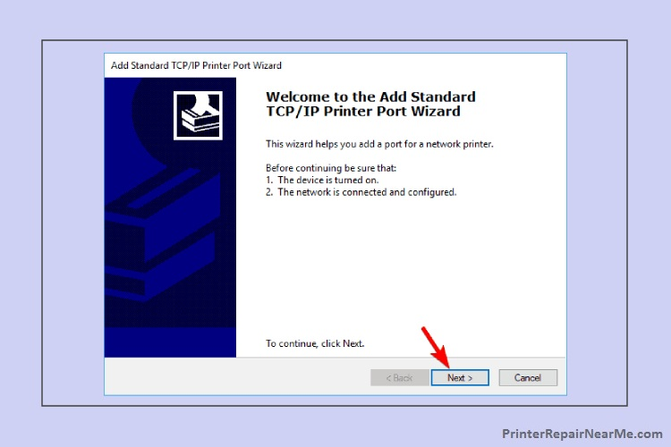 Add TCPIP Port-printer offline windows 10