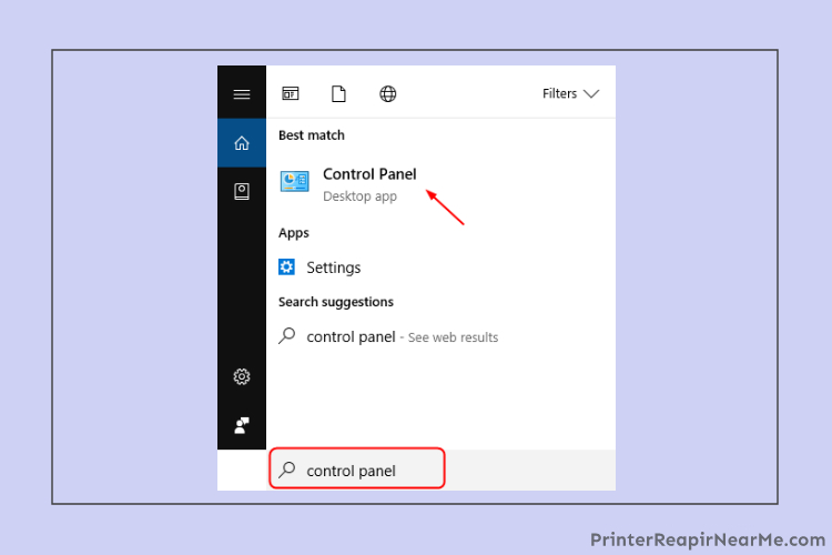 Control Panel-Canon Printer-offline