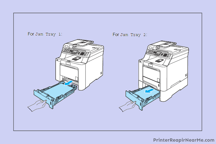 Brother Printer Paper jam but there is no paper jam error