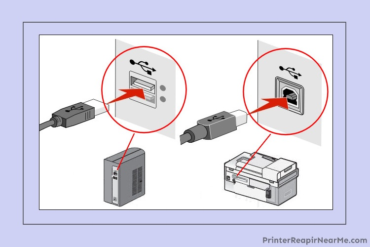 Remove the cable and reconnect - Epson printer offline