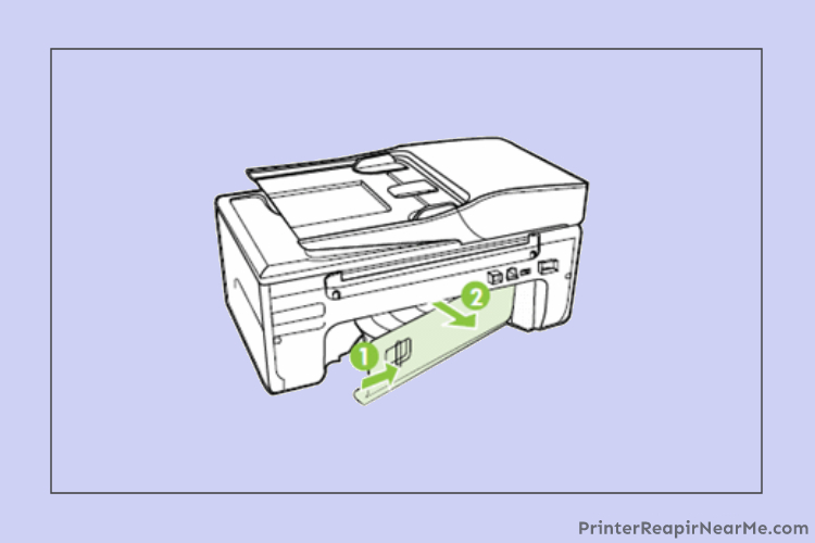 Removing a rear access panel-Epson Printer Paper Jam