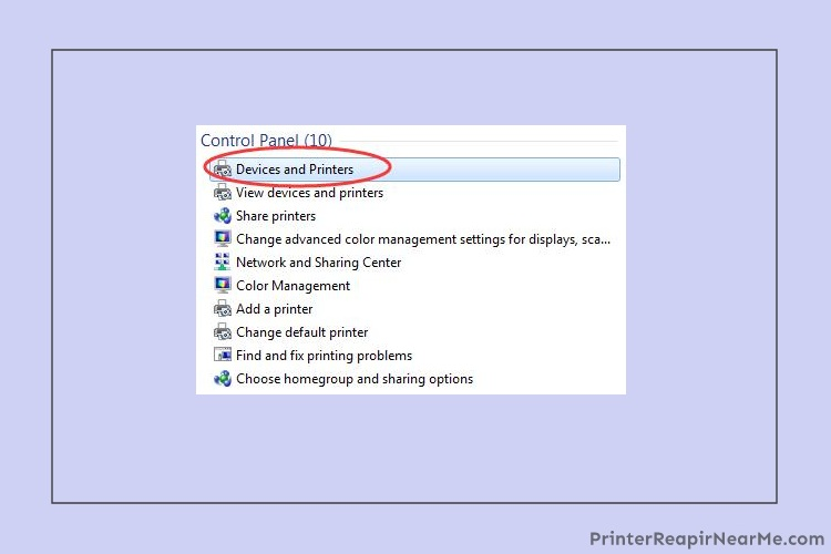 Click on the properties- Epson printer offline