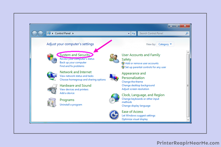 System and security- Brother printer driver is unavailable
