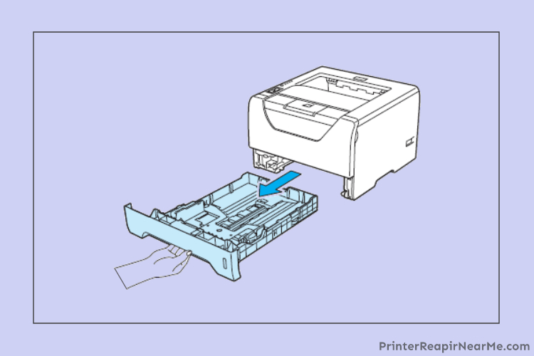 clean-the-paper tray-How To Fix Kyocera Printer Paper Jam Error