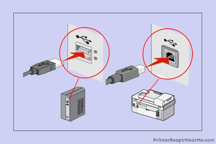 printer-connected-via-USB-brother printer offline