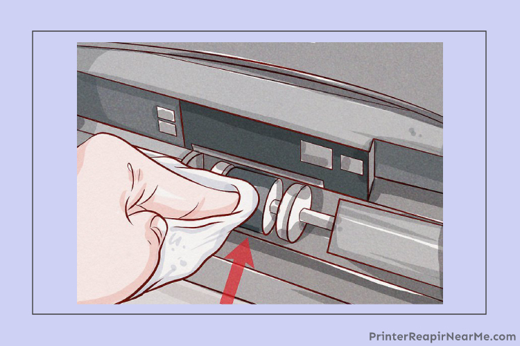 Rollers- How to clean the printhead on a lexmark printer