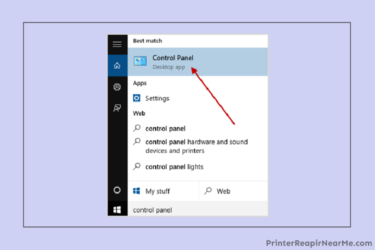 Control panel- How to check ink levels on hp printer